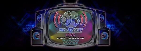 Flyer Schlaflos Live w/ Future Waves 2021-01-30 19:00:00Z